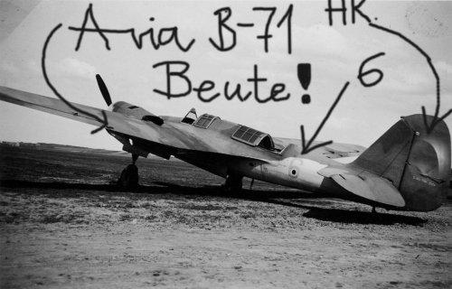 Чешский Avia B-71 б/н 6