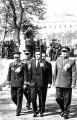 Церемония зажжения Вечного огня на могиле Неизвестного солдата у Кремлевской стены. С факелом – Герой Советского Союза Маресьев А.П.